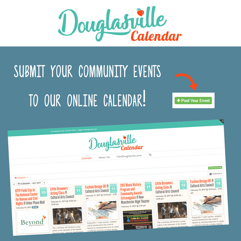 Douglasville Calendar Flyer CVB website