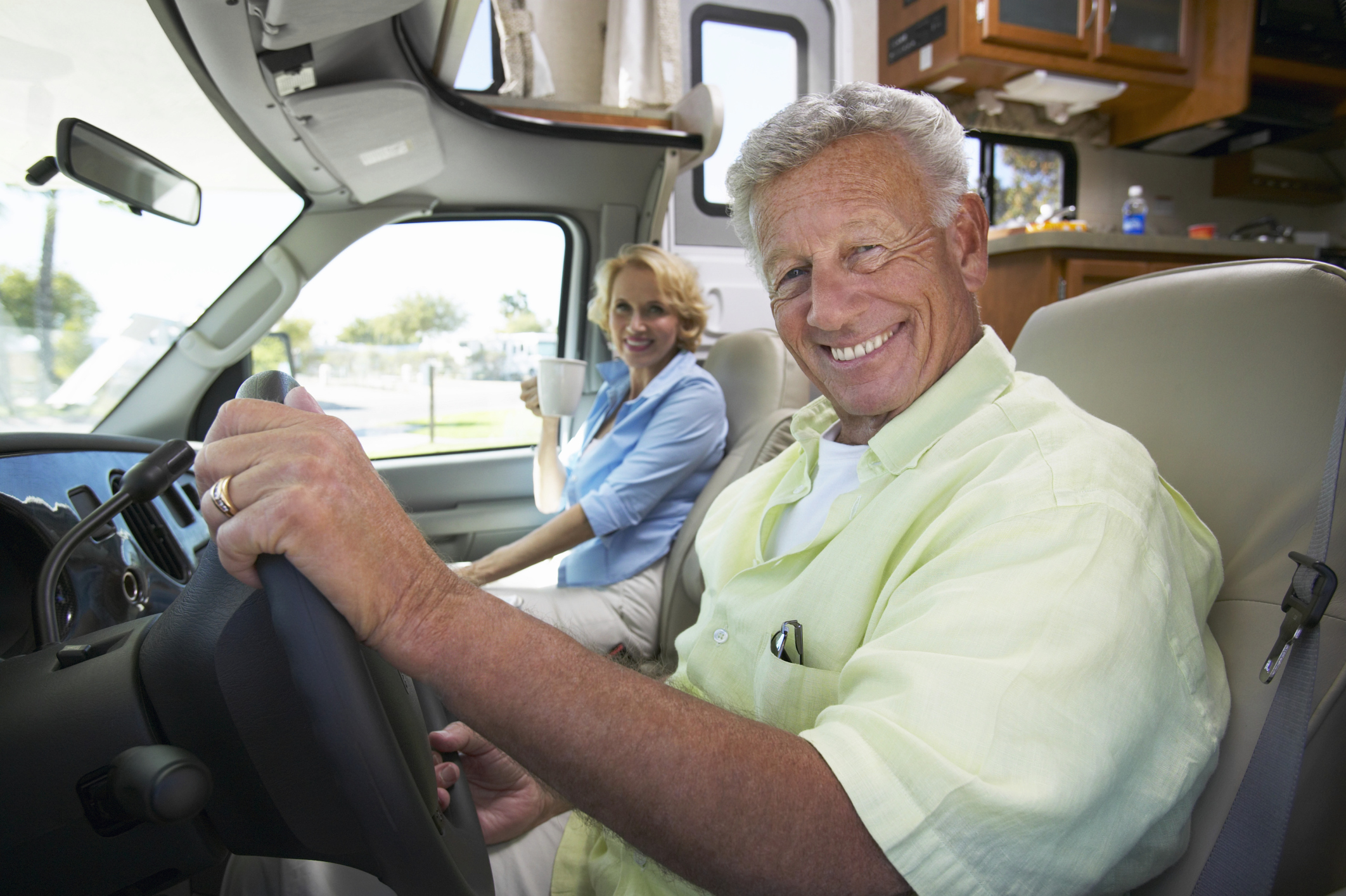 Couple in an RV
